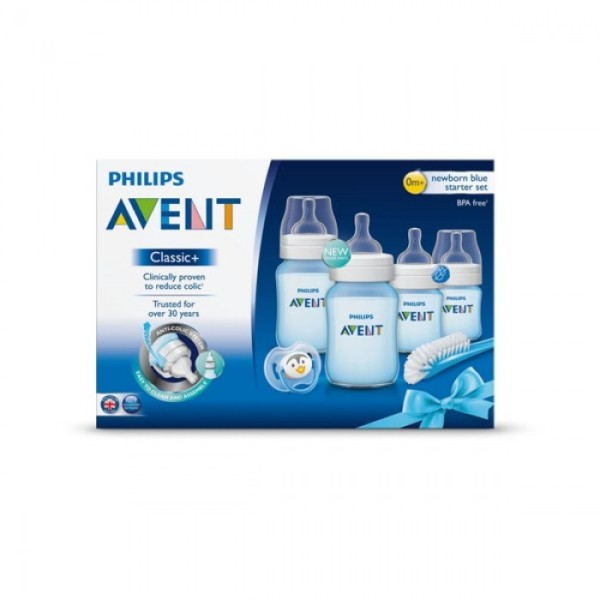 philips avent classic newborn blue starter kit baby products malaysia. Black Bedroom Furniture Sets. Home Design Ideas